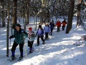Snowshoeing at The Basin Phippsburg 08