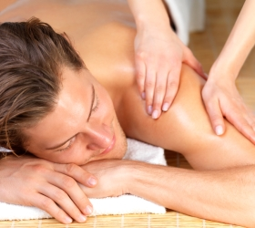 Getting a massage gives you a little window of time for self care