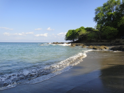 Costa Rican Shoreline. Montezuma, CR. Photo by Sue Shekut.