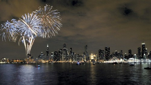New Year's Eve at Navy Pier Chicago. Photo from Time Out Chicago.