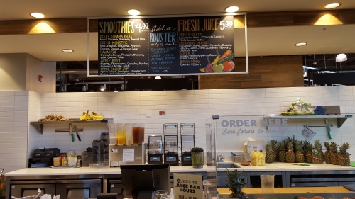 Fresh pressed juice..and smoothies, too!